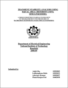 power system stability thesis Analysis of steady state voltage stability in large scale power systems by colin david christy a thesis submitted to the graduate faculty in partial fulfillment of the.