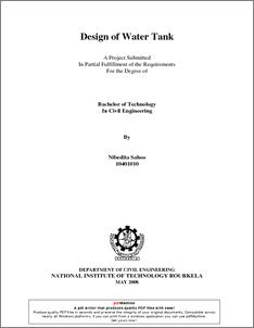 Design of Water Tank - ethesis