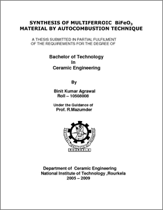 thesis on multiferroic materials