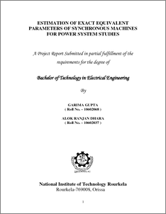 synchronous generator thesis Design of a permanent magnet synchronous generator for a vertical axis wind turbine nima madani master of science thesis in.