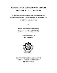 thesis on power factor correction Power factor correction (pfc) is a necessary feature of many ac/dc power electronics products the issues of increasing the value of the power factor (pf) and.
