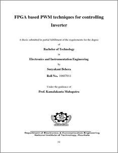 FPGA based PWM techniques for controlling Inverter - ethesis
