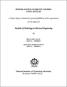 Power System Stability Studies Using Matlab - ethesis