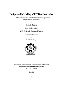 Design and Modeling of I2C Bus Controller - ethesis