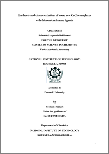 Thiosemicarbazone thesis