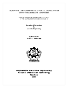 Microwave synthesis thesis