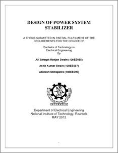 power system stabilizer simulink model