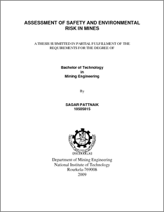 thesis mining environment