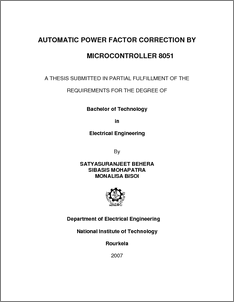 thesis using microcontroller Microcontroller based home automation system page i  we used program based microcontroller technology in this project so we  82 practical circuit of the thesis 50.
