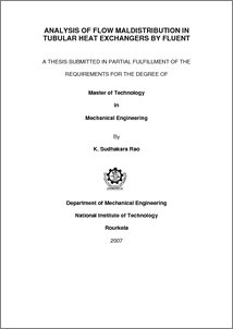 thesis on design of heat exchanger Abstract in this paper, current steady-state heat exchanger network synthesis techniques are improved and methodologies for obtaining optimal resilient networks are developed.