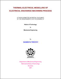 phd thesis electric discharge machining This paper aims to compare the material removal rate, ν between a dimensional analysis (da) model, an artificial neural network (ann) model and an experimental result for a low gap current of an electrical discharge machining (edm) process.