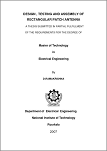nitrkl thesis Punit kumar year: august 2015 onwards m tech (2015): nit rourkela thesis  topic: not yet decided email: punitnitrkl@gmailcom.