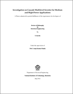 Phd Thesis: Multiphase-Multilevel Inverter for Open-Winding Loads