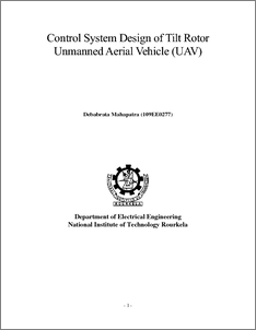unmanned aerial vehicle thesis This honors college thesis is brought to you for free and open access by the   unmanned aerial system (suas) can be used to estimate volumes in a safe,.