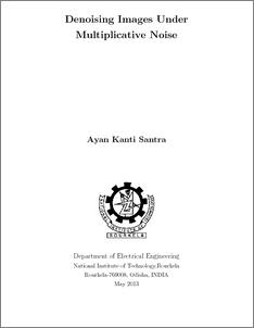 thesis on image denoising Image denoising using wavelet thresholding lakhwinder kaur savita gupta rc chauhan deptt of cse deptt of cse deptt of cse.