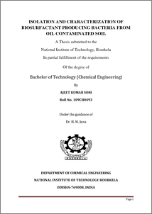 Oil characterization thesis
