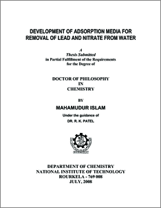 phd. thesis on adsorption