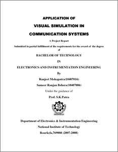 Application of Visual Simulation in Communication Systems