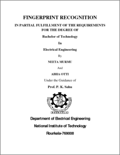 fingerprint recognition system thesis